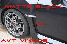 AVT 2011-14 SUBARU WRX/STI FENDER VENT OVERLAY INLAY MATTE BLK VINYL DECAL