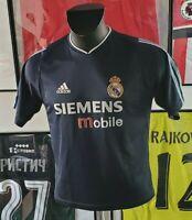 Maillot jersey shirt real madrid ronaldo raul zidane 2003 2004 03/04 XS vintage