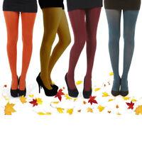 Pamela Mann 80 Denier Autumn Colour Opaque Tights. One Size. Autumnal colours