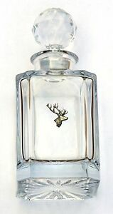 Stag Head Design Cut Crystal Glass Decanter Hunting Gift 347