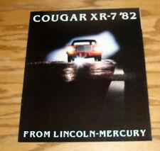 Original 1982 Mercury Cougar XR-7 Sales Brochure 82
