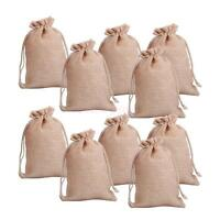 lot of 25 50 100 Wedding Hessian Burlap Jute Favour Gift Bags Drawstring Pouch