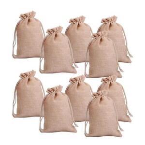 lot of 25 50 100 Wedding Hessian Burlap Jute Favour Gift Bags Drawstring Pouch