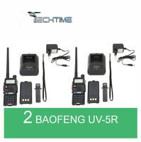 2X BAOFENG UV-5R VHF/UHF DUAL BAND RADIO 130-176 400-520  Mhz RICETRASMITTENTE