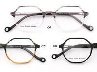 Deluxe Polygon Acetate Eyeglasses women Men Frames Irregularity Glasses Hexagon