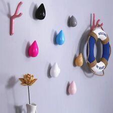 Practical Water Drop Shape Wood Wall Hanger Door Coat Hanger Hat Single Hook