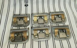 Six Oster Electric Hair Clipper No, 50 Blades Sizes 1 and 1.5