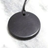 "Shungite pendant necklace ""Circle"" Healing & Protection 4G 5G EMF"