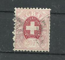 SWITZERLAND, ZUMSTEIN # 19, USED, VF