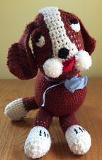 "Crochet stuffed ""Buster the Dog"" handmade vintage"