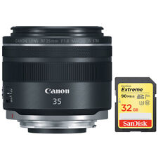 Canon RF 35mm f/1.8 Macro IS STM Lens Black + Sandisk 32GB Extreme Memory Card