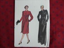 Vintage Vogue 8122 floor length coat formal overcoat Sewing Pattern size 10