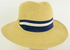 Calvin Klein Women's boating Navy Blue strap vintage paper  hat cap