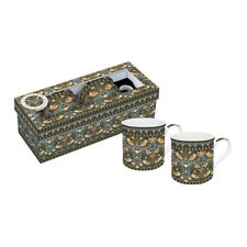 Stow Green Strawberry Thief Set of 2 Porcelain Mugs William Morris Design Gift