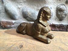 sculpture Metal Fer Doré Sphinx Sphinge Animal Chimère Mythologie Grec  Début XX