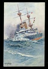 Royal Navy Battleship artist SEPPINGS WRIGHT drawn PPC picture postcard