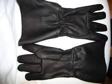 "#7998 Large Goatskin Leather Motorcycle Police 5"" Gauntlet gloves Union made USA"