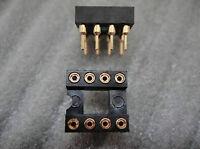 40pcs 8 PIN GOLD DIP DIP8 IC SOCKET PANEL ADAPTER SWAP,G8S ling