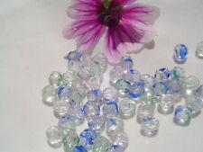 Czech Firepolish Glass Bead 6mm WR1-Crystal/Stripe 50pc