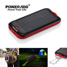 5000mAh LED Solar Waterproof Portable USB External Battery Charger Power Bank US