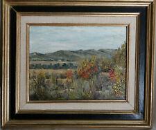Ancien tableau huile paysage de Provence à attribuer