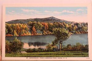 New Hampshire NH Keene Mt Monadnock Cummings Pond Postcard Old Vintage Card View