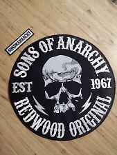 Sons Of Anarchy Redwood Original Skull Round Jacket Patch Biker Gang FX TV Show