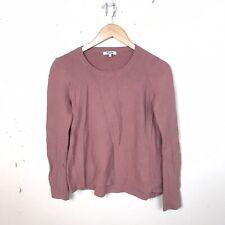 Madewell Dusty Rose Scoop Neck Knit Long Sleeve Sweater Medium