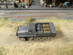 HO Roco Minitanks 7th Panzer Army Half Track  Hand Painted Weathered