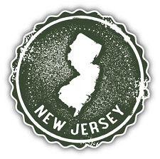 New Jersey USA State Grunge Map Stamp Car Bumper Sticker Decal 5'' x 5''