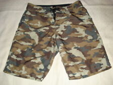Stussy Mens Shorts Board Surf Brown Camo Size 31