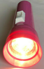 Vintage Eveready Flashlights Classic Retro Colors Working Bulbs Hot Pink Red USA