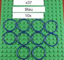 Gummiringe für LEGO-Blau-Blu-x37-Rubber Belt Med. Round Cross Section(3X3)-10X