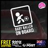 Baby Baller On Board 156x110mm Funny Baby Boy Girl Dadlife Mumlife Soccer
