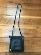 Fossil Black Leather Messanger Bag (Used)