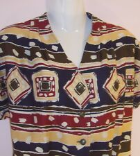 ALEXON LADIES SHORT SLEEVE BLOUSE WITH MATCHING FLARED SKIRT UK SIZE 14