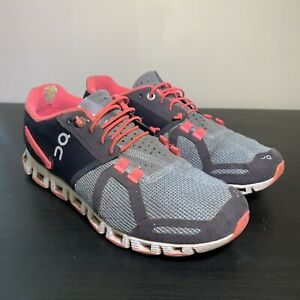 On Cloud Running Shoes Pink Grey Women's Size 7.5 Swiss Engineering
