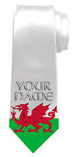 WALES WELSH DRAGON FLAG PERSONALISED NECK TIE *ANY NAME/TEXT * NAMED MEN'S GIFT*