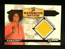 2006 Topps WWE Heritage Carlito Ringside Relics Shirt Relic Insert Card