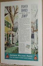 1937 Sherwin-Williams Paint advertisement, house painters, Carl Broemel art