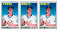 (3) 1992 Baseball Card Monthly #46 Robin Yount Baseball Card Lot Brewers
