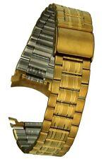 Correa Acero Inoxidable IP Oro 20MM Rundanstoss Reloj de Pulsera Repuesto