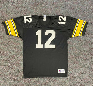 vintage champion nfl pittsburgh steelers terry bradshaw jersey size 48