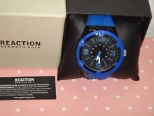 Kenneth Cole Reaction Men's Blue Black 50mm Watch Blue Silicon Strap 10030999