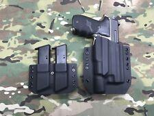 Black Kydex Light Holster SIG P226 Combat Surefire X300 Ultra w/Mag Carrier
