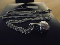 anatomical detail 925 silver plated human heart pendant necklace Gothic Jewel