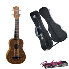 Luna Soprano Ukulele Peace Ukulele with Mahogany Body and Hardcase
