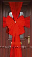 Red Eleganza Diamante Door Bow - Luxury Christmas Wreath Garland Decoration