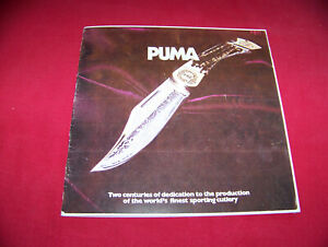 1980 Puma Knife Gutmann Cutlery Co. Reprint Book Catalog Flier Copy