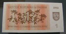 Banknote von Litauen, 1 Talonas, 1992, bankfrisch